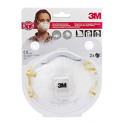 Image for 3M 8812 C2 Cup Shaped Particulate Respirator Mask With Exhalation Valve from StoreName