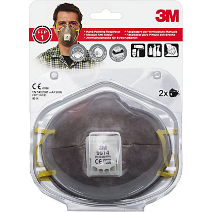 Image for 3M 8822 C3 Cup Shaped Particulate Respirator Mask With Exhalation Valve from StoreName