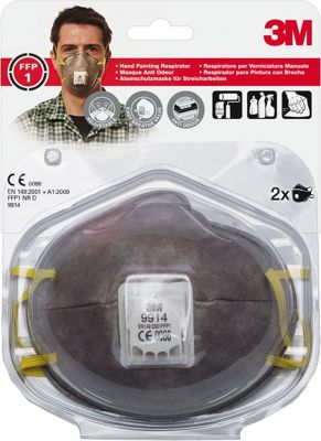 3M 8822 C3 Cup Shaped Particulate Respirator Mask With