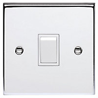 Schneider Electric 10AX single intermediate switch - polished chrome, white interior