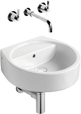 Ideal Standard White Round Cloakroom Basin - 40cm