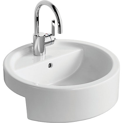 Homebase Bathroom Sinks : Image for Ideal Standard White Round Semi Recessed basin - 45cm from ...