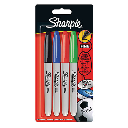 Image for Sharpie Fine Permanent Marker - Pack of 4 from StoreName