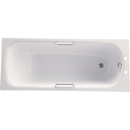 Image for Standard Seel Bath with Chrome Grips & Front Panel from StoreName