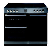Belling DB4 90E Electric Range Cooker - Stainless steel.