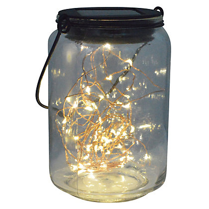 Image for LED Fairy Jar Solar Lights from StoreName