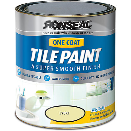 Image for Ronseal Ivory - One Coat Tile Paint - 750ml from StoreName