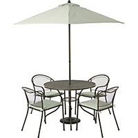 Ontario Metal 4 Seater Garden Furniture Set