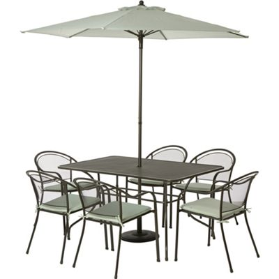 Image for Ontario Metal 6 Seater Garden Furniture Set - Collect in Store from StoreName