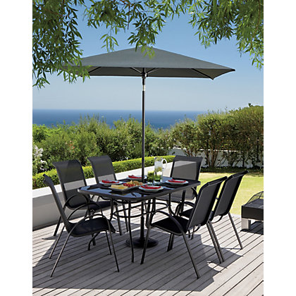 Andorra 6 seater garden furniture set for Outdoor furniture homebase