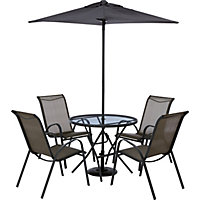 Andorra Bronze 4 Seater Garden Furniture Set - Home Delivery