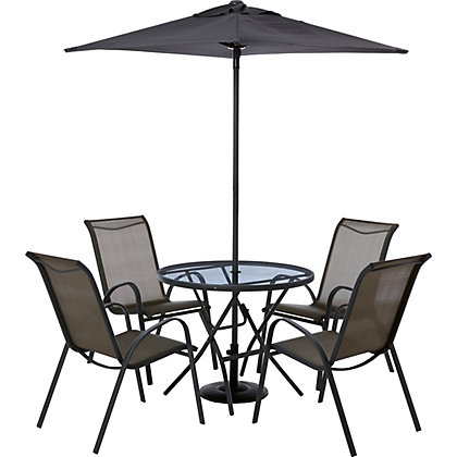 Image For Andorra 4 Seater Metal Garden Furniture Set Home Delivery