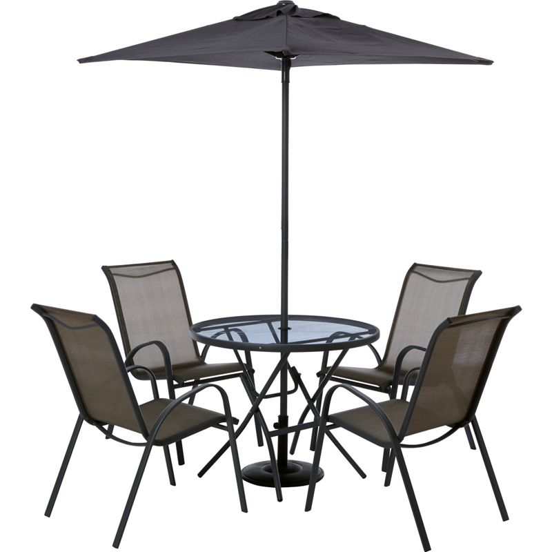 Sale on andorra 4 seater metal garden furniture set home for Metal garden table and chairs