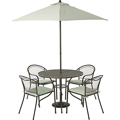 Image for Ontario 4 Seater Metal Garden Furniture Set - Home Delivery from StoreName