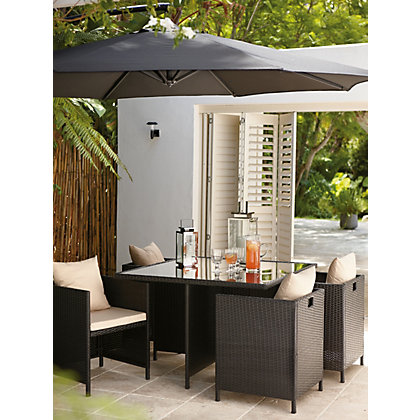 Rattan 4 Seater Cube Garden Furniture Set
