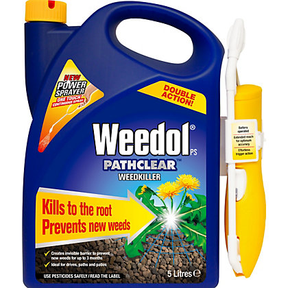 Image for Weedol Gun! Pathclear Ready To Use Weedkiller Power Sprayer - 5L from StoreName