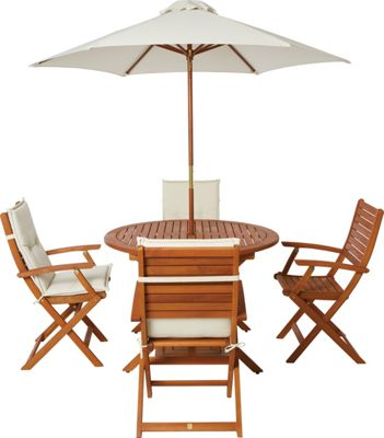 Peru 4 Seater Garden Furniture Set Folding Armchairs