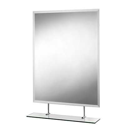 Image for Croydex Helton Rectangular Mirror and Shelf from StoreName