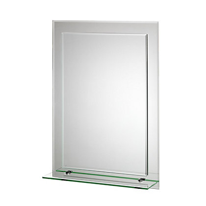 Image for Croydex Devoke Rectangular Mirror and Shelf from StoreName