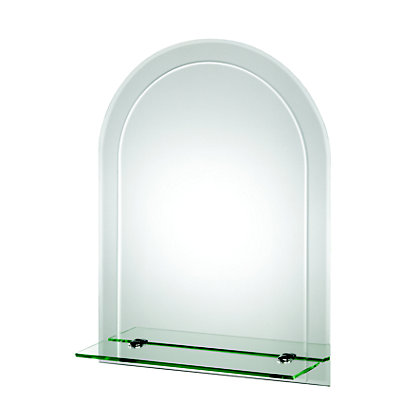 Image for Croydex Fairfield Arch Mirror and Shelf from StoreName