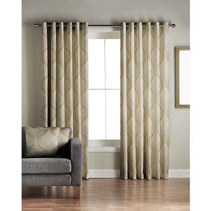 Image for Jeff Banks Cyrus Green Lined Curtains - 90 x 72in from StoreName