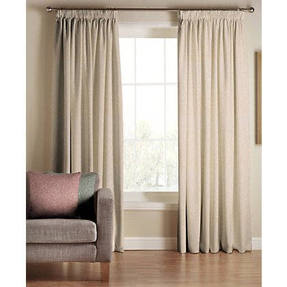 Image for Tru Living Classique Beige Lined Curtains - 46 x 54in from StoreName