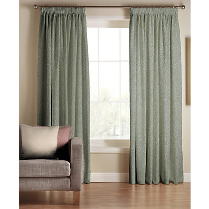 Image for Tru Living Classique Green Lined Curtains - 90 x 90in from StoreName