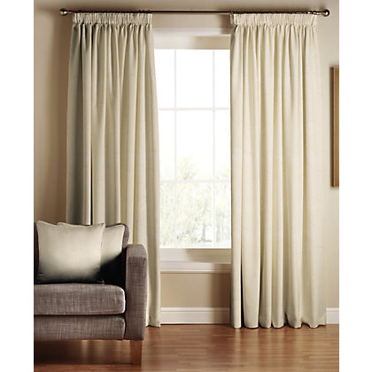 Image for Tru Living Chic Natural Lined Curtains - 90 x 72in from StoreName