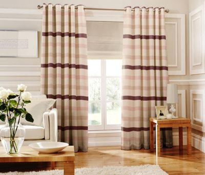 Whiteheads Judy Pink Lined Curtains - 90 x 72in