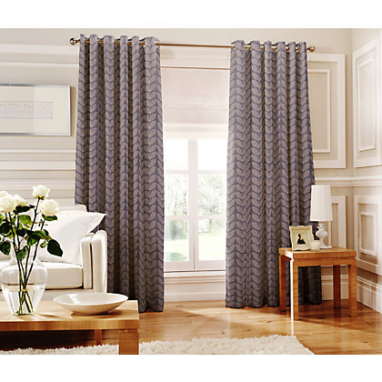 Image for Whiteheads Loretta Denim Lined Curtains - 66 x 72in from StoreName
