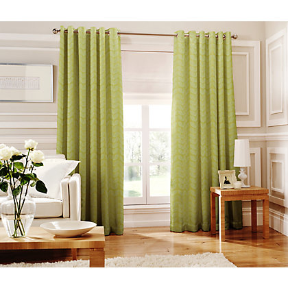 Image for Whiteheads Loretta Lime Lined Curtains - 66 x 90in from StoreName