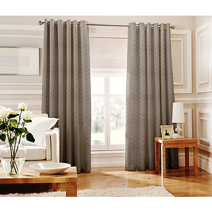 Image for Whiteheads Loretta Silver Lined Curtains - 66 x 90in from StoreName