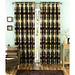 Sundour Portobello Chocolate Lined Curtains - 90 x 90in