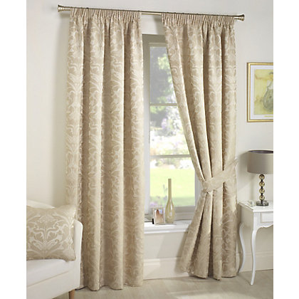 Image for Curtina Crompton Natural Lined Curtains - 90 x 72in from StoreName