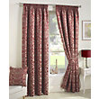Curtina Crompton Red Lined Curtains - 46 x 54in