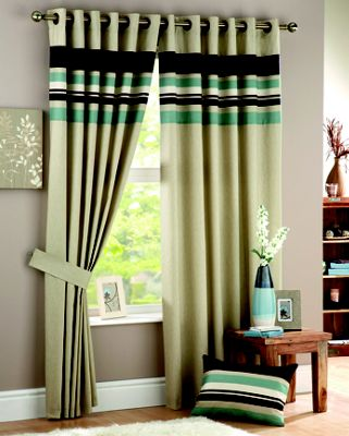 Curtina Harvard Duck Egg Lined Curtains - 46 x 54in