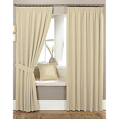 Image for Curtina Marlowe Natural Lined Curtains - 90 x 54in from StoreName