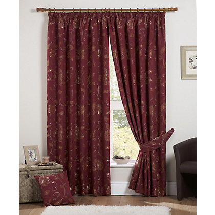 Image for Curtina Maybury Claret Lined Curtains - 90 x 72in from StoreName