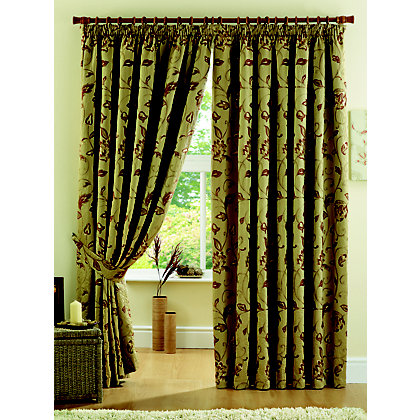 Image for Curtina Maybury Terracotta Lined Curtains - 90 x 54in from StoreName