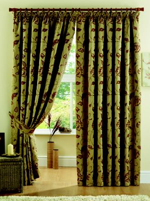 Curtina Maybury Terracotta Lined Curtains - 90 x 90in