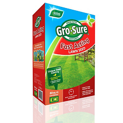 Image for Westland Gro-Sure Fast Acting Lawn Seed - 2.4kg from StoreName