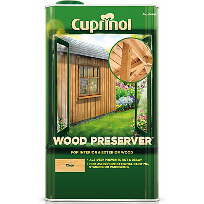 Cuprinol garden wood preserver clear 5l Cuprinol exterior wood preserver clear