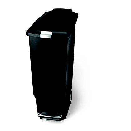 Image for Simplehuman Slim Pedal Bin - 25L - Black from StoreName