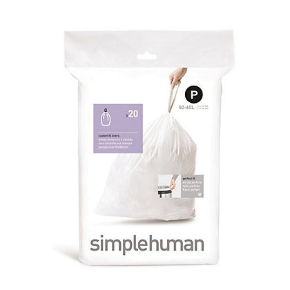 Image for Simplehuman Bin Liner Size Code P - 20 Pack from StoreName