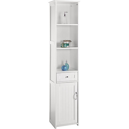 Tower unit white for Homebase bathroom storage units
