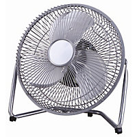 Adjustable Tilting 9 Inch Desk Fan - Chrome