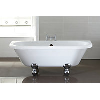 Traditional Back to Wall Roll Top Bath - 1700 x 405mm