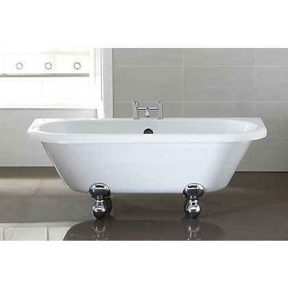 Image for Traditional Back to Wall Roll Top Bath - 1700 x 405mm from StoreName
