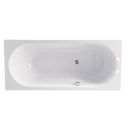 Image for Luxury Steel Shower Bath - White - 1700 x 750mm from StoreName