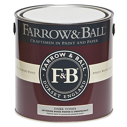 Image for Farrow and Ball Interior Wood Primer Undercoat - Dark Tones - 2.5L from StoreName
